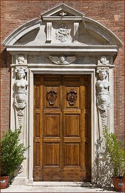 church door todi italy