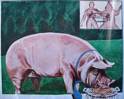 Paulo Neri, mural, aulla italy