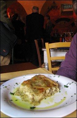food porn lasagna